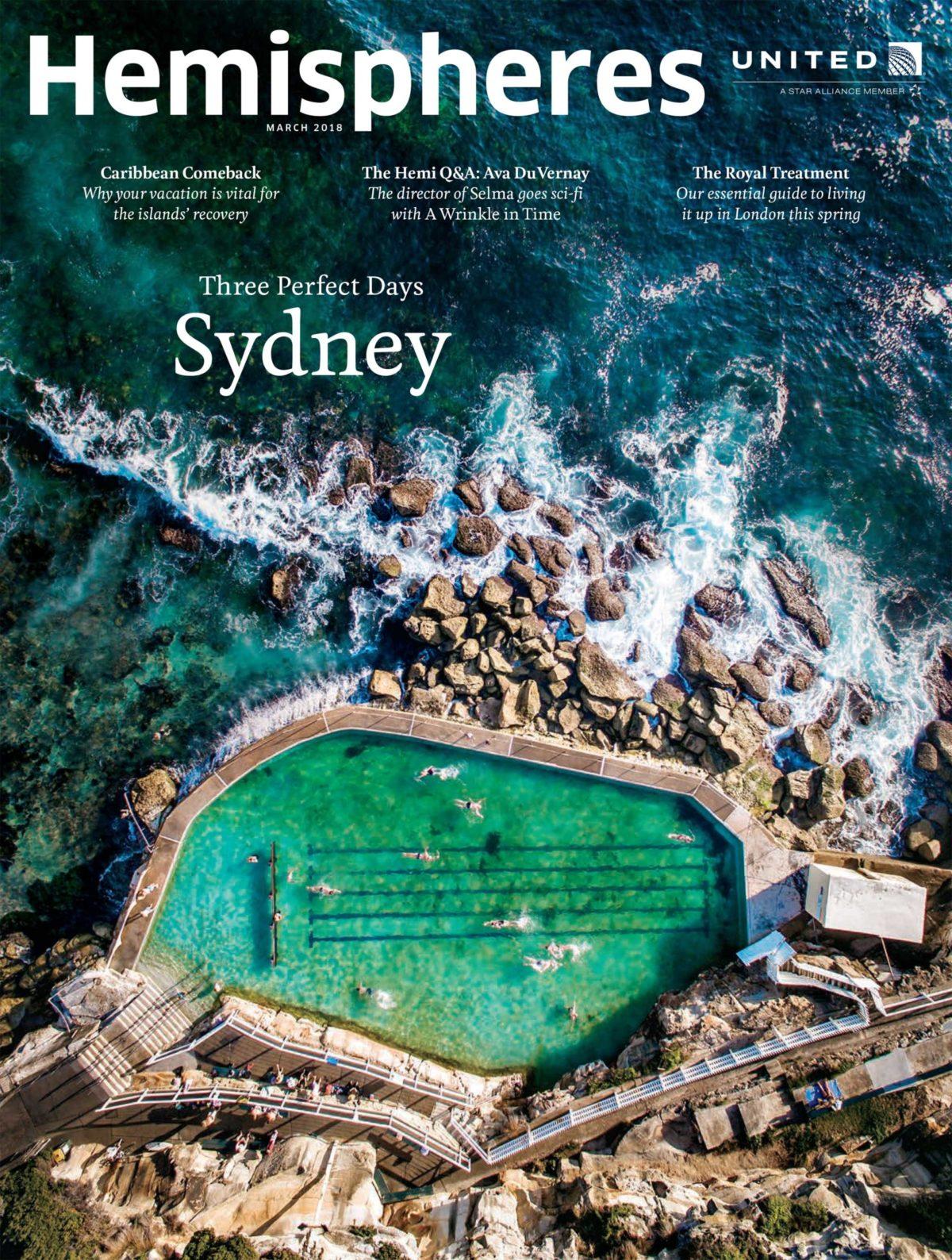 Hemispheres Magazine Cover
